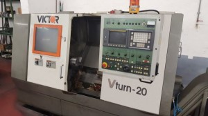 Used VICTOR Vturn 20 CNC Lathe with fixed tools M1701799633 1